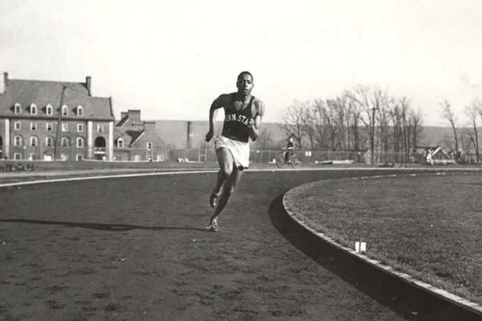 Omega Psi Phi brother Barney Ewell was Penn State's most prominent athlete in the 1940s.