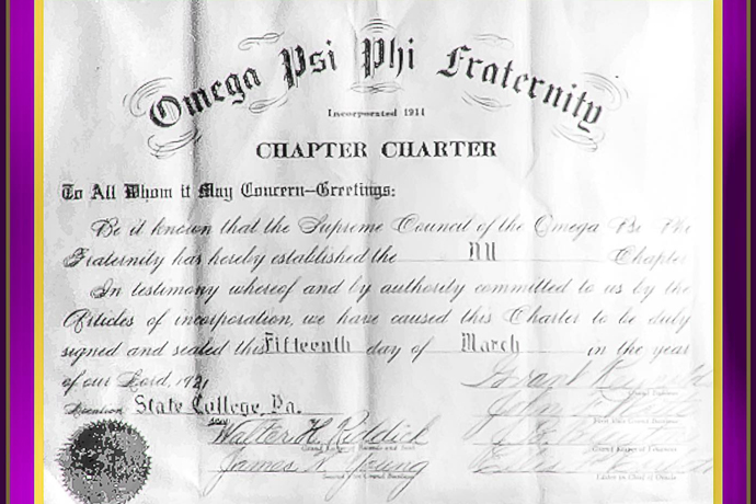 Nu Chapter was chartered in 1921, founded on the principles of manhood, scholarship, perseverance and uplift.