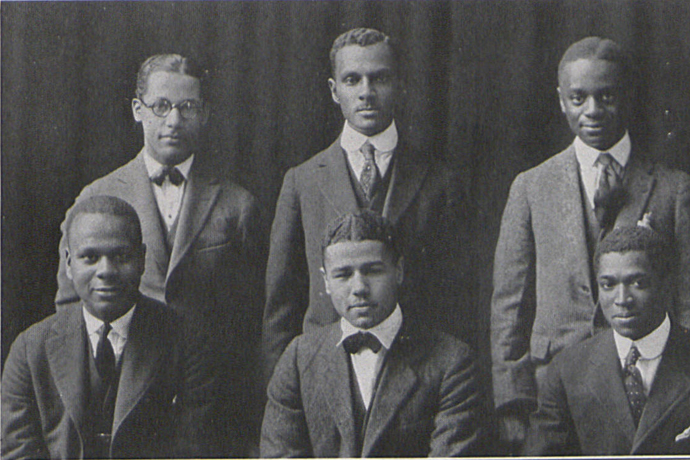 In 1921, the only eight Black male students on Penn State campus banded together to form Nu Chapter of Omega Psi Phi.